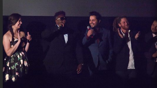 Yuri Alves and team in a theater