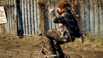Tommy Cuba on the bike